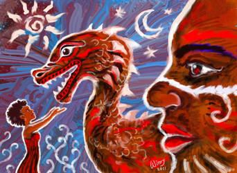 Yomngga and the Dragon by winrymarini
