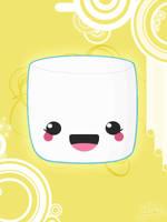 Kawaii Marshmallow by lustdrunk