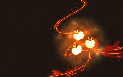 AppleJack Cutie Mark Wallpaper by flamelauncher14