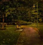 Evening in the Park by Violet-Kleinert