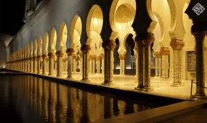 Zayed mosque from the side by iraqiguy