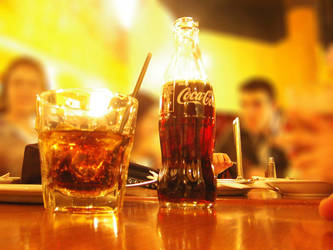 coke glass and bottle by iraqiguy