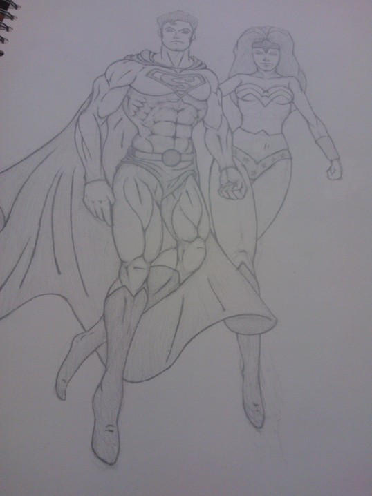 Superman And Wonder Woman by afaq125