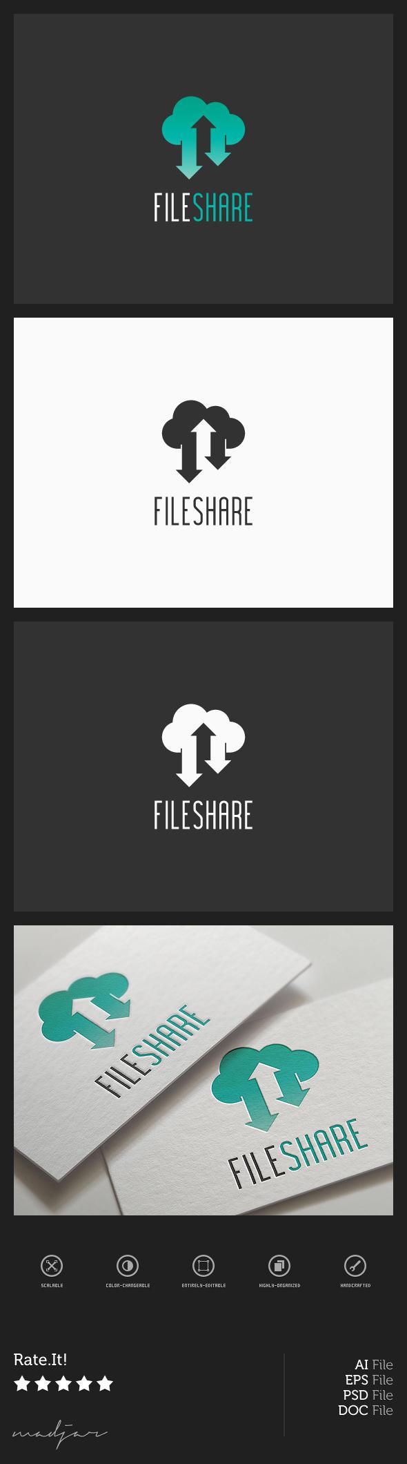 Cloud Share Logo by madjarov