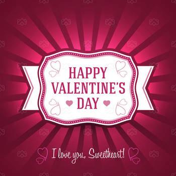 Isolated Valentine Greetings Card by madjarov