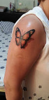 Butterflly tattoo with 3D effect by flaviudraghis