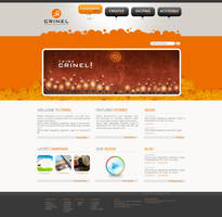 Crinel Website Design Op2 by karmooz