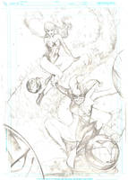 harley quinn and ivy pencils by Peter-v-Nguyen