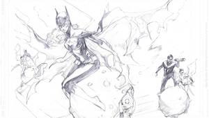 batgirl pencils in progress by Peter-v-Nguyen