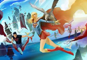 Sun kissed Supergirl by Peter-v-Nguyen
