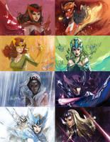 THe Colorfull mutants of Marvel by Peter-v-Nguyen