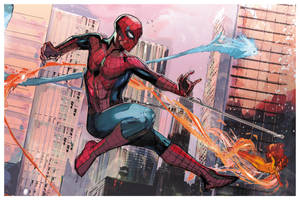 Spiderman and his amazing friends by Peter-v-Nguyen