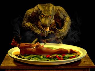 Jordan's Date with Croc by AlucardsSpirit