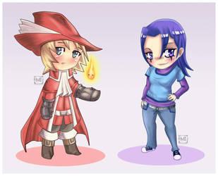 Ingus and Kara by Memainc