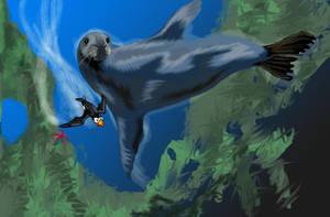 underwater art by alexvontolmacsy