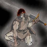 swordy crouchy guy by alexvontolmacsy