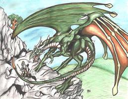 Dragon Vs Knight by alexvontolmacsy