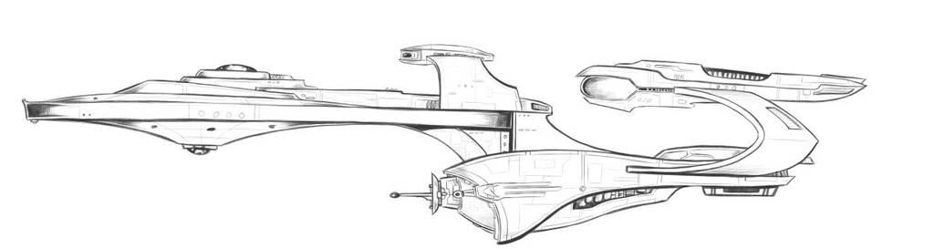 a star trek I decided to draw. by alexvontolmacsy
