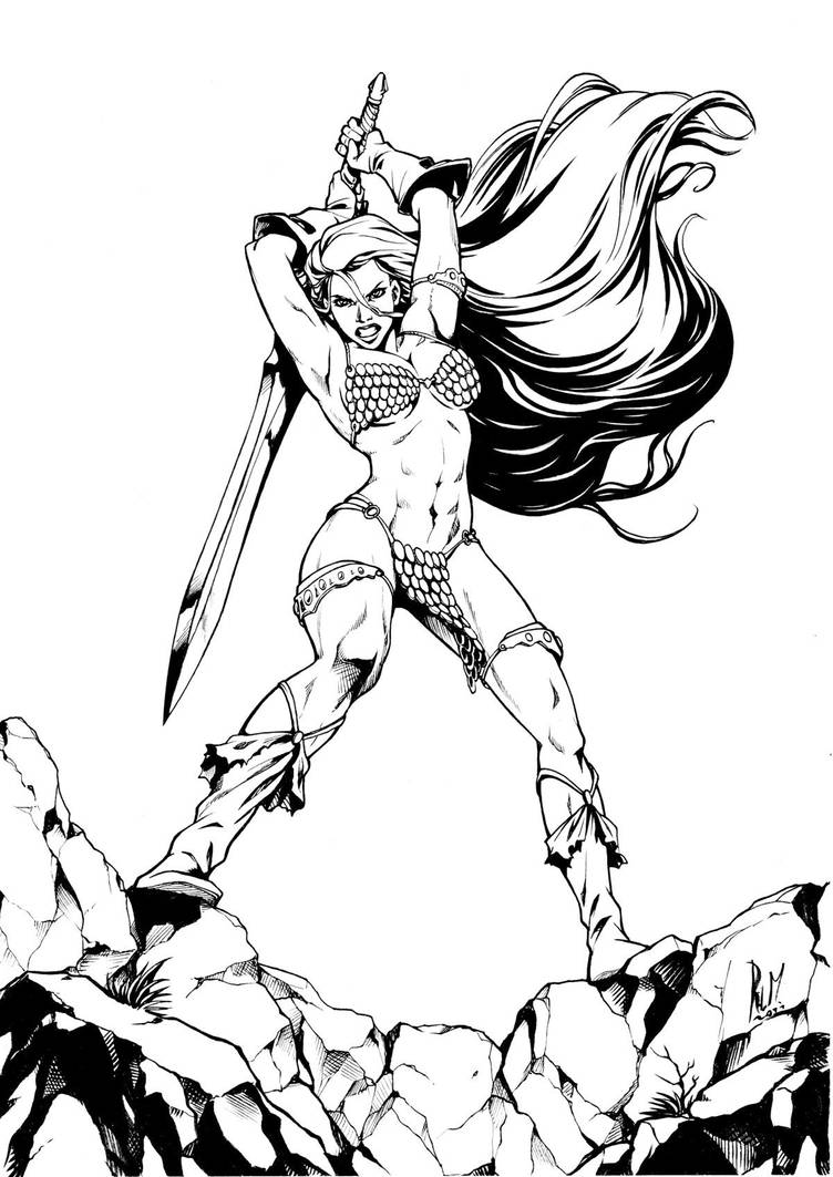 Red Sonja BW by ritam