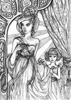 Tarri and Temma - sketch by Alexandra-Glazer