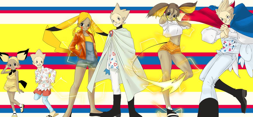 Pikachu and Togepi evolution Gijinka by HippyGothyIDFK