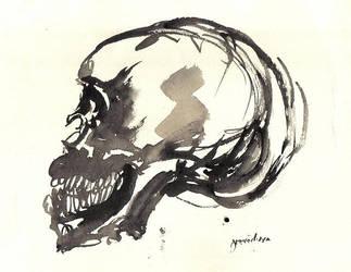 Ink, Skull and Ochre by mondocarlo