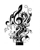 Music Tattoo by FarFallaLoduca