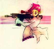 girl got gun by onegreyelephant