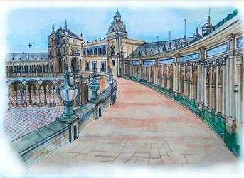 Plaza Espana de Sevilla by Luchitovilla12