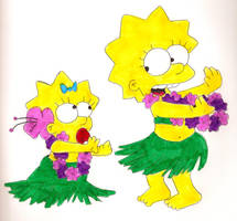 Simpson Sister Hula by Locke831