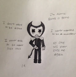 Bendy feeling down by SadnessFemBoy2016