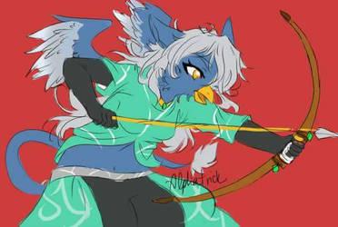 [Not my art] Blue Bird Archer by Tysavarin