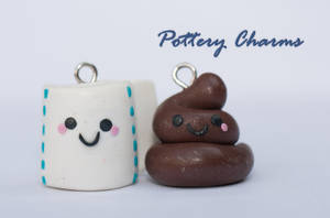 Toilet Paper and Poop Charms by AutumnLeong