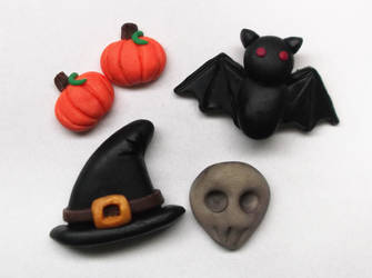 Halloween Polymer Clay Charms by AutumnLeong