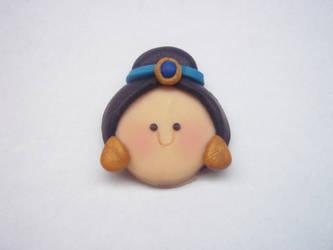 Princess Jasmine Polymer Clay Chibi Head by AutumnLeong