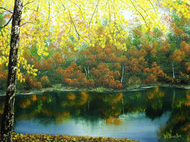 Autumn Lake by DonBowling