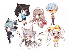 Bunch of Chibis by aienai