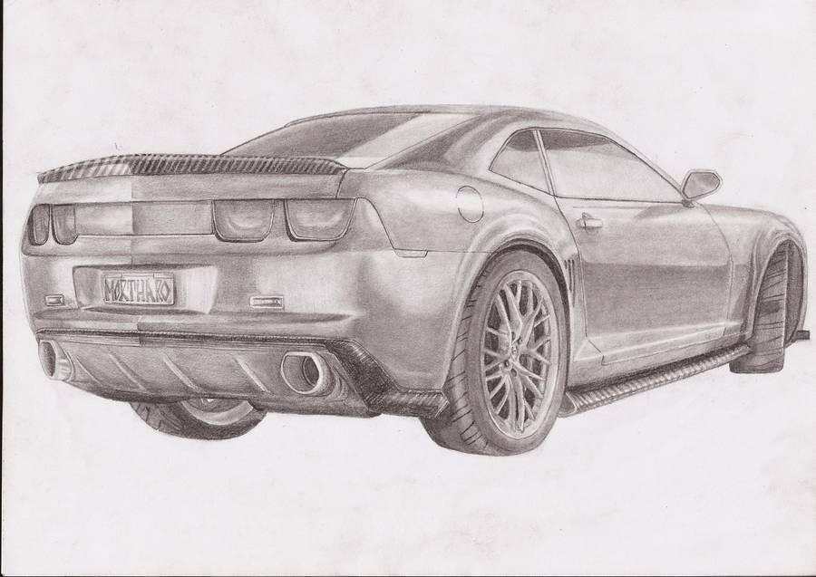 Chevrolet Camaro Pencil Drawing By Mortharo On Deviantart
