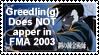 Greedlin Is Not in FMA 2003 by GreedLin