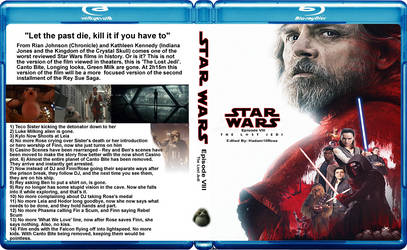 Star Wars Episode 8: The Lost Jedi BluRay Cover by GreedLin