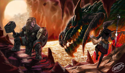 The Dwarf, The Elf and the Dragon by Shadaan