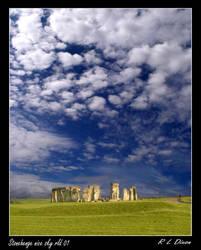 Stonehenge and sky by richardldixon