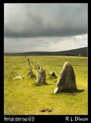 Merrivale stone row rld 01 by richardldixon