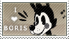 Boris The Wolf Stamp Fan (F2U) by InkyGirly