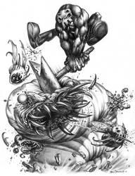 HAMMER of QUADSKULL by fobiapharmer