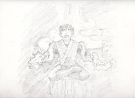 Legend of Jin Portrait Sketch:I was Born for This by ChronicGuardian