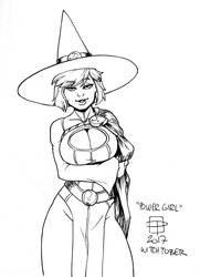 Witchy Power Girl by CallmePo by limeykat