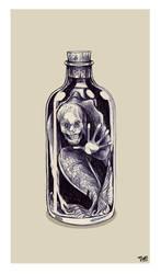 Old Mermaid In A Bottle by TmoeGee