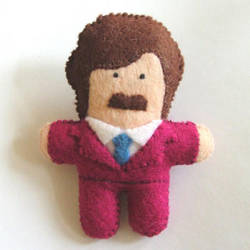 Little Ron Burgundy by Kezzaroo