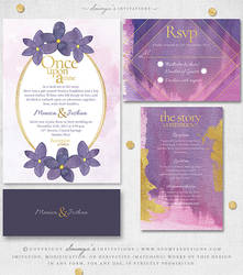 Fairytale Wedding Invitation Set by Soumya SM by soumyasm